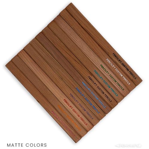 Pencilify Custom Carpenter Pencils - Matte Colored Text