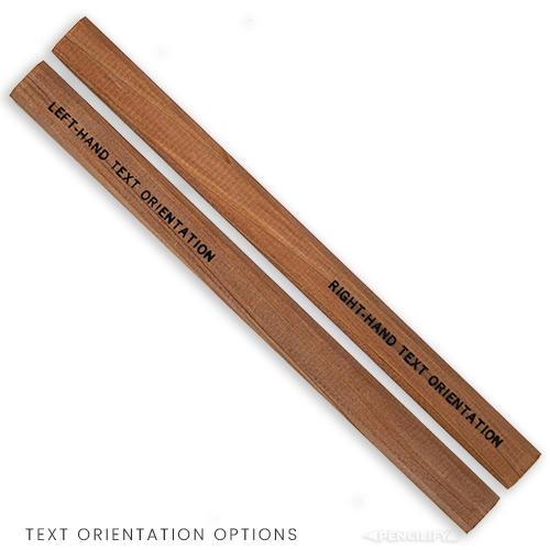 Pencilify Custom Carpenter Pencil - Text Orientation