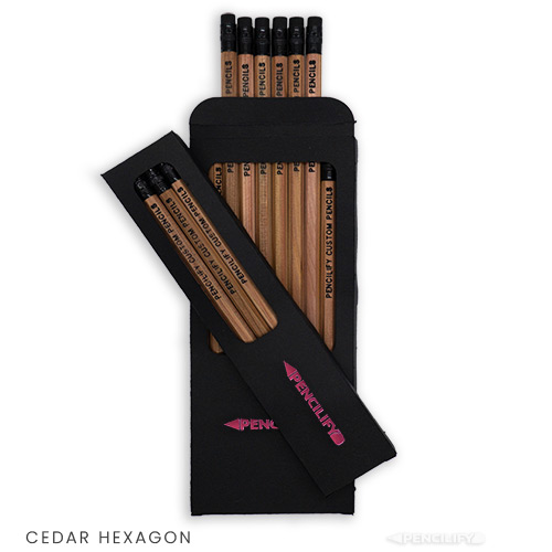 Pencilify Custom Hexagon Pencils with Box