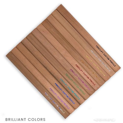 Pencilify Custom Carpenter Pencils - Brilliant Colored Text