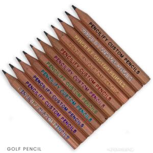 Pencilify Custom Golf Pencils - Natural Wood