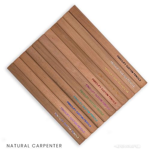 Pencilify Custom Carpenter Pencils - Natural Wood